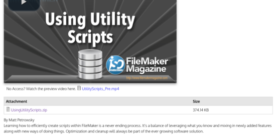 Using Utility Scripts | FileMaker Magazine