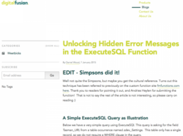 Unlocking Hidden Error Messages in the ExecuteSQL Function