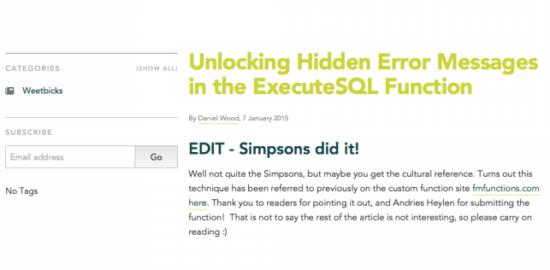 Unlocking Hidden Error Messages in the ExecuteSQL Function